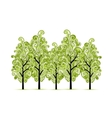 Green grove with trees for your design vector image vector image