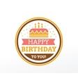 Happy Birthday typographic set design vector image vector image