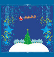 happy new year card with santa vector image