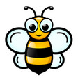 honey bee cartoon design vector image vector image