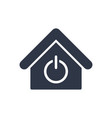 house power switch - web icon vector image