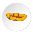 Inflatable boat icon cartoon style vector image vector image