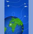 international flights or cargo transportation on vector image