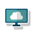Isolated cloud computing design vector image