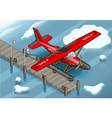 Isometric Artic Hydroplane at Pier vector image vector image