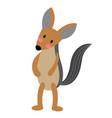 jackal animal standing on two legs cartoon