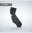 map us state california vector image vector image