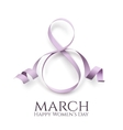 March 8 womens day background vector image vector image