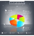 Modern 3d infographic template Can be used for vector image vector image