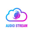 online media cloud audio streaming online music vector image
