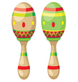 Pair of Maracas vector image vector image