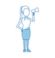 political business woman promoter holding vector image vector image