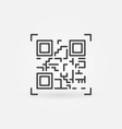 qr code scanning icon in thin line style vector image
