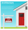 real estate investment with house for sale vector image vector image
