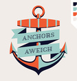 Retro Nautical Sign vector image vector image