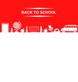 school banner red vector image