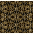 Seamless damask pattern with golden glitter vector image vector image