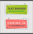 set of flat geometric banners vector image vector image