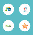 set of summer icons flat style symbols with vector image