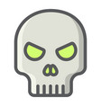 Skull filled outline icon halloween and scary