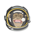 smile monkey head astronaut good for cutting file vector image vector image