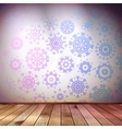 Snowflakes in blue room EPS 10 vector image vector image