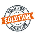 solution round grunge ribbon stamp vector image vector image