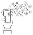 technology smartphone cartoon vector image vector image