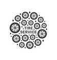 tire repair service background vector image vector image