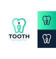 tooth pin logo trend modern logotype or graphic vector image vector image