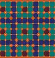 vintage pattern geometric bohemian delight color vector image vector image
