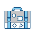 vintage travel suitcase vector image
