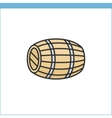 Wood wine cask icon vector image vector image