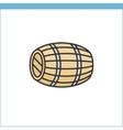 Wood wine cask icon vector image vector image