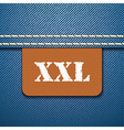 XXL size clothing label - vector image vector image