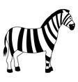 zebra line icon vector image vector image