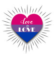 bisexual heart on white background vector image