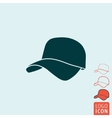 Cap icon isolated vector image