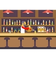 Bar Restaurant Cafe with Barkeeper Character vector image