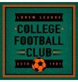 Color vintage and retro logo badge label college vector image