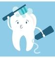 tooth teeth brush him self cartoon character vector image