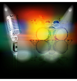 abstract background with retro microphone and drum vector image