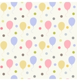 Balloons pattern flat vector image