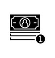 banknotes cent icon black vector image