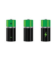 batteries set vector image