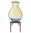 Big vase at the China store vector image vector image