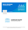 blue business logo template for competition vector image