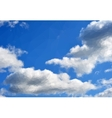 Blue Sky with White Clouds vector image vector image