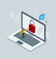 business isometric for hacker technology vector image