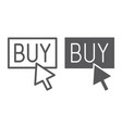 buy now line and glyph icon shopping and commerce vector image